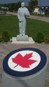 A statue of Janusz Zurakowski, who on March 25th 1958, was the first test pilot of the Avro Arrow (RL-201), located in Zurakowski Park, Barry's Bay.
