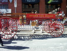 A wagon belonging to the Bytown Fire Brigade at the Bytown Days held in the Market.
