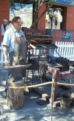 A blacksmith at the Bytown Days.