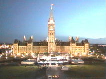 Sunrise on Parliament Hill for Canada's 136th birthday. [July 1 4:30am]
