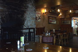 A shot of the back of Patty Boland's pub in the Market. Note the massive fireplace.