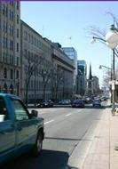A view West down Rideau Street.
