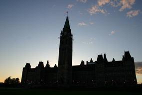 Parliament Hill at sunset.