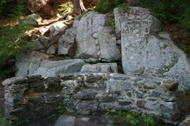 More remails of the estate - I'm not sure exactly what it was,  though.  A seat, perhaps part of the boathouse?