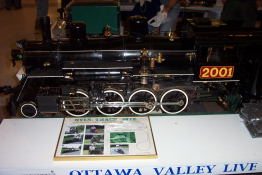 This is a working miniature model of the CPR G-5 4-6-2 1201 that ran from Montreal to Smith Falls-Perth.  I have ridden on the