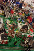 An excellent Lego train setup by ParLUGment, Ottawa's Lego User Group.