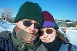 Its us - all bundled up (the wind was a bit nippy).