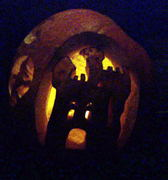 A pumpkin we came across on the way home.