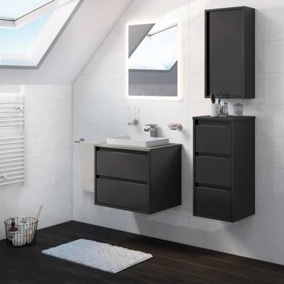 Mobile bagno Loto grigio antracite L 60 cm prezzi e offerte online  Leroy Merlin