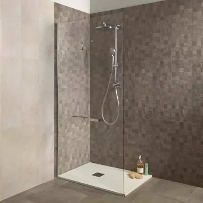 Piatto doccia resina Strato 100 x 70 cm bianco prezzi e offerte online  Leroy Merlin