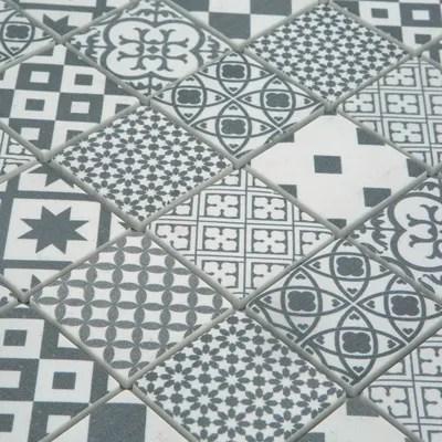 Mosaico Cementina 30 x 30 cm bianco grigio prezzi e offerte online  Leroy Merlin