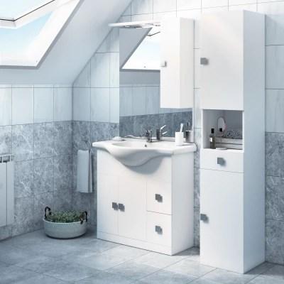 Mobile bagno Super bianco L 85 cm prezzi e offerte online