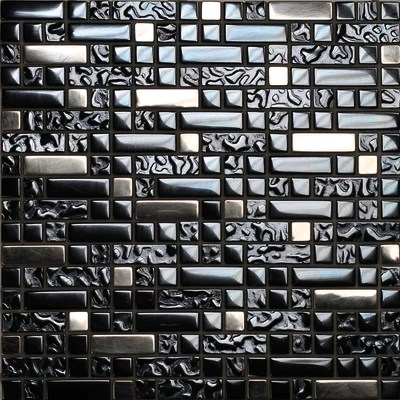 Mosaico Muretto 30 x 30 cm nero argento prezzi e offerte online  Leroy Merlin