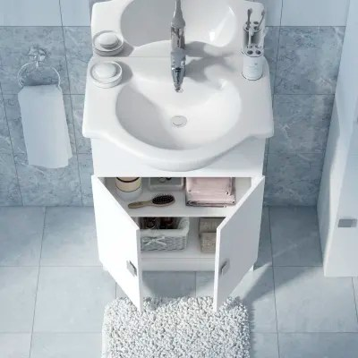 Mobile bagno Super bianco L 65 cm prezzi e offerte online