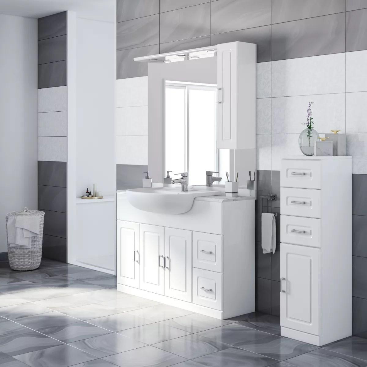 Mobile bagno Paola bianco L 120 cm prezzi e offerte online