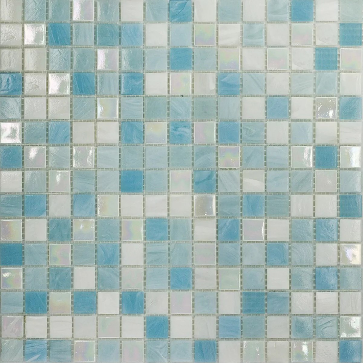 Piastrelle Bagno Mosaico Azzurro YL85  Regardsdefemmes