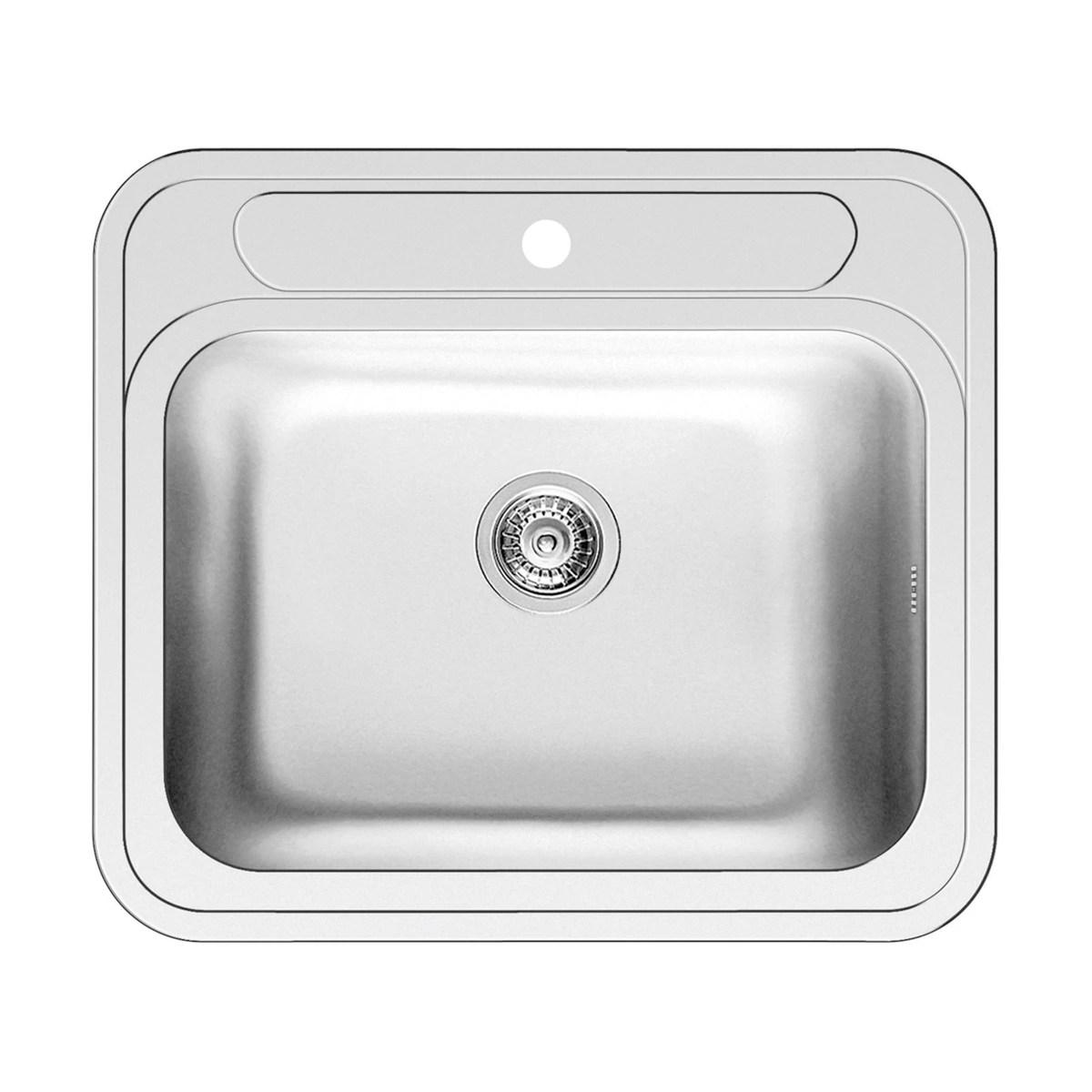 Lavello incasso Kubo L 58 x P 51 cm 1 vasca prezzi e offerte online