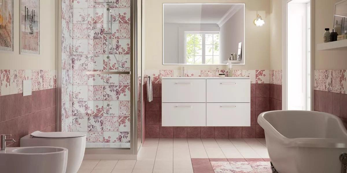 elegant consigli per arredare un bagno rosa romantico with arredare bagno