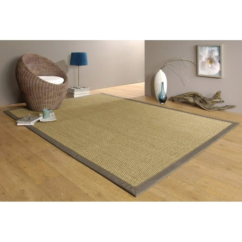Tapis Sisal Pas Cher Lame Pvc Clipsable Blanchi Styling