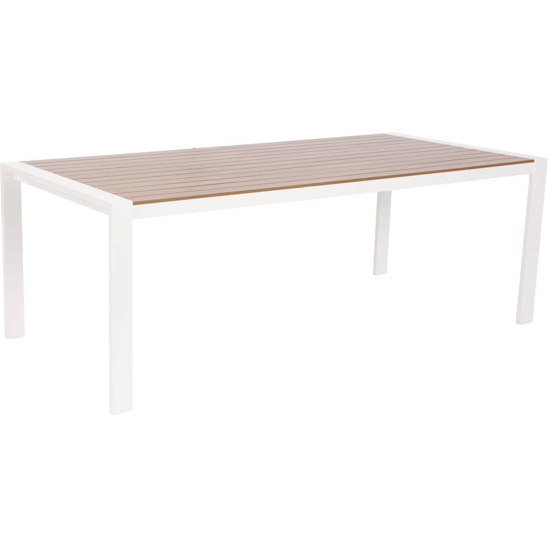 Table De Jardin Bois Rectangulaire   Table De Jardin Grosfillex Véga ...