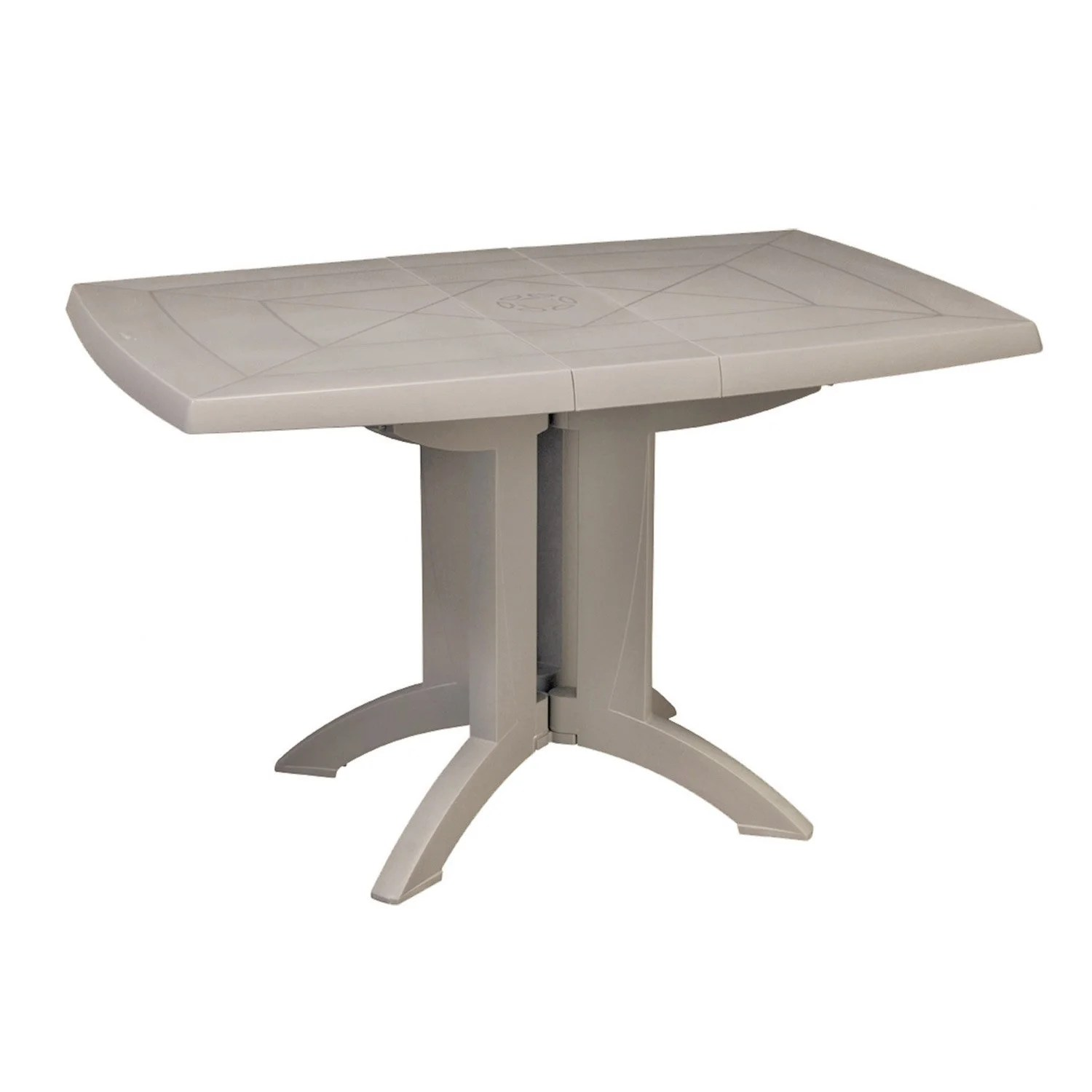 Table Vega Grosfillex Leroy Merlin | Table De Jardin Ronde Table De ...