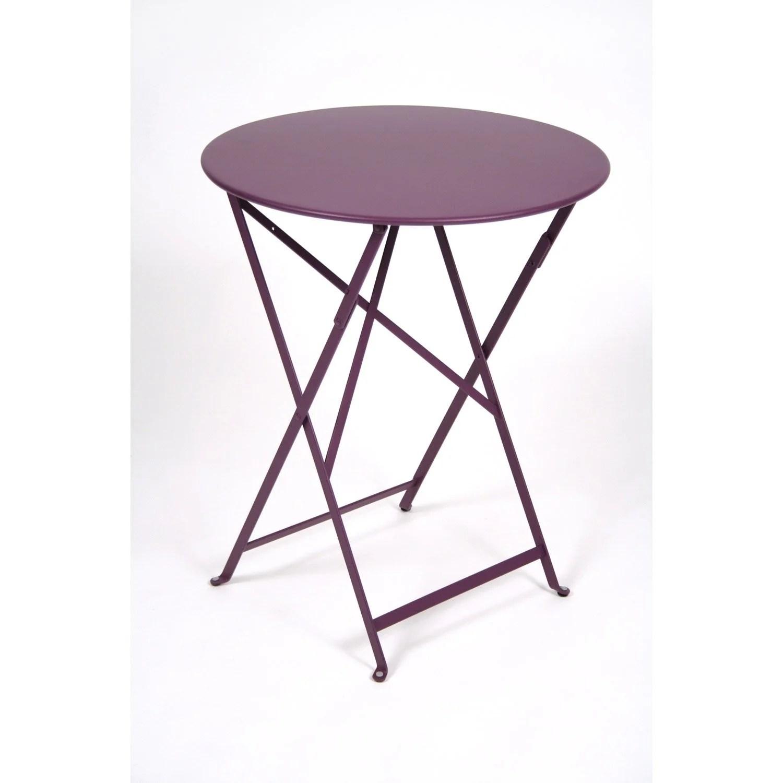 Table De Jardin Ronde En Couleur   Table De Jardin Ronde Et 4 ...