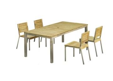 Table De Jardin Teck Et Inox | Table De Jardin Inox Beautiful Table ...