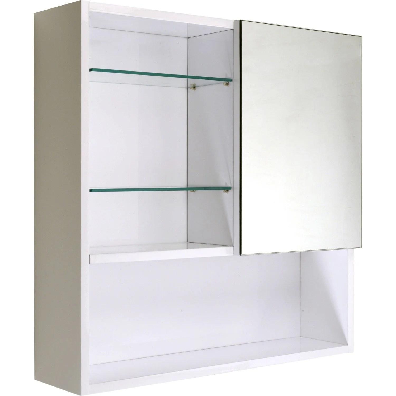 Armoire De Toilette, Blanc, L60 Cm Simply  Leroy Merlin