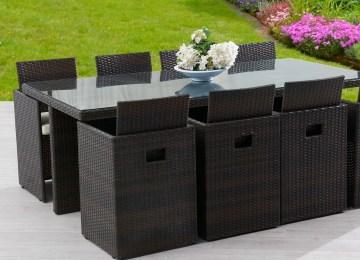 Table De Jardin Hexagonale En Resine | Jardin Ext Rieur Terrasse ...