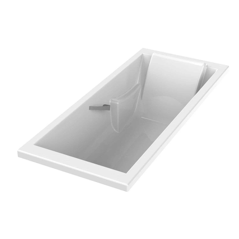 Baignoire Rectangulaire L180x L80 Cm Blanc, Sensea