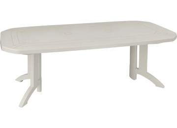 Table De Jardin Pvc Blanc Carrefour | Chaise Jardin Pvc Blanc Phil ...