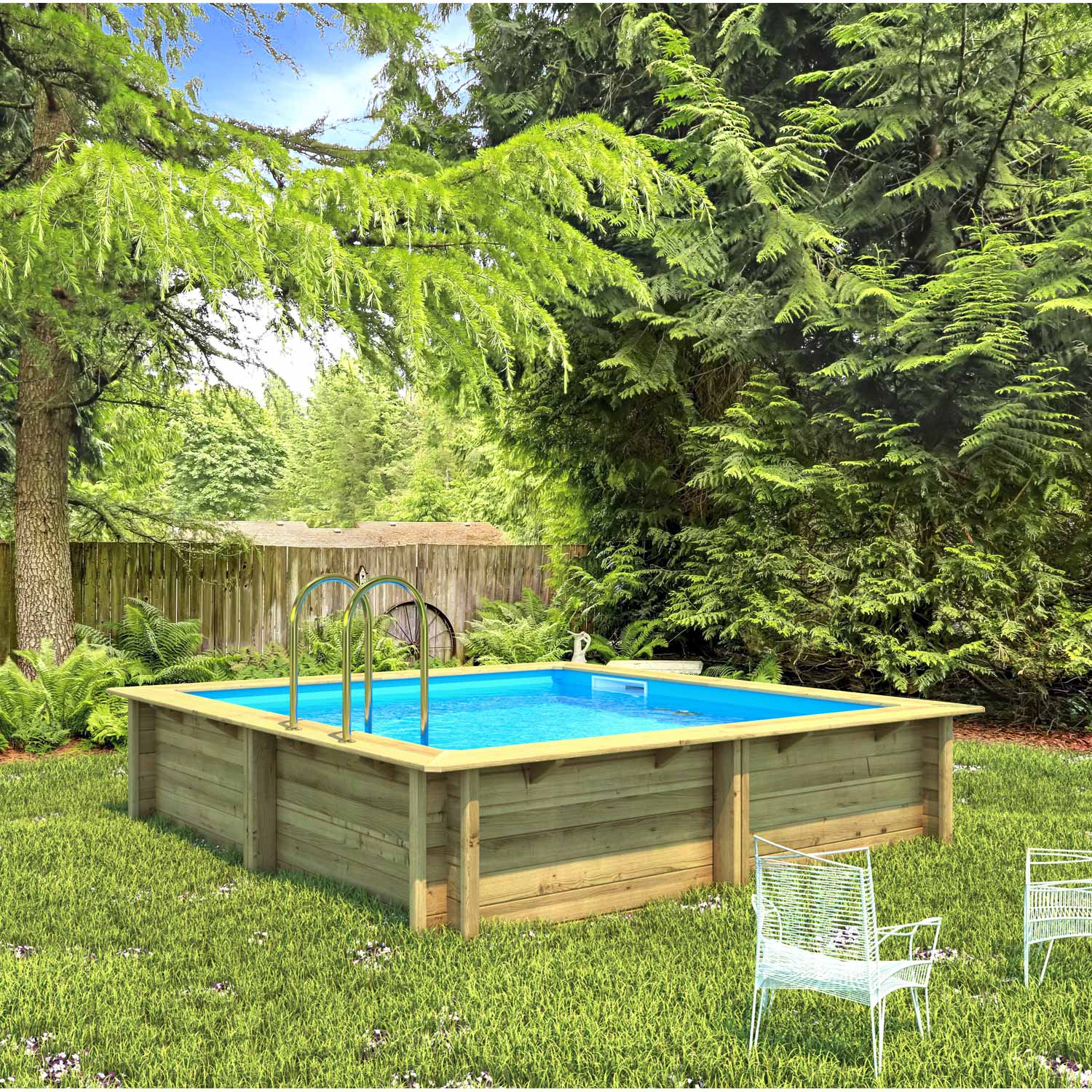 Teppich 3 X 2 Meter Piscine Hors Sol Bois Weva Proswell By Procopi L 3 5 X L