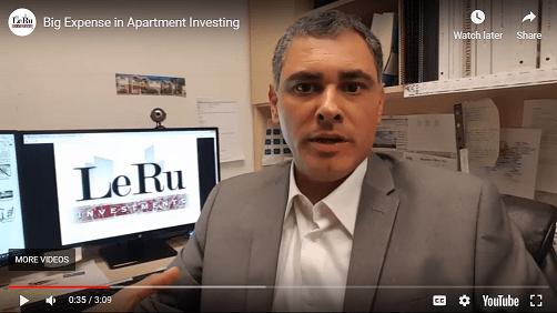 Big expense in apartment investing