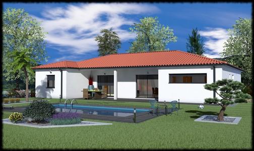 Maison invidivuelle moderne de plainpied Copaiba  126 m
