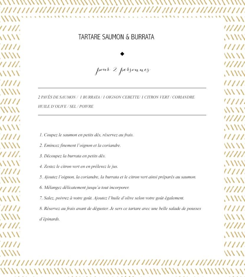 Recette Tartare Saumon Burrata