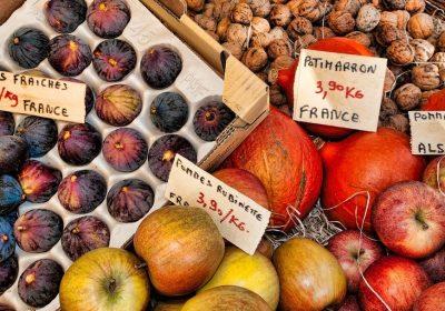 fruits marché automne