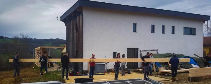 Chantier participatif maison ossature bois