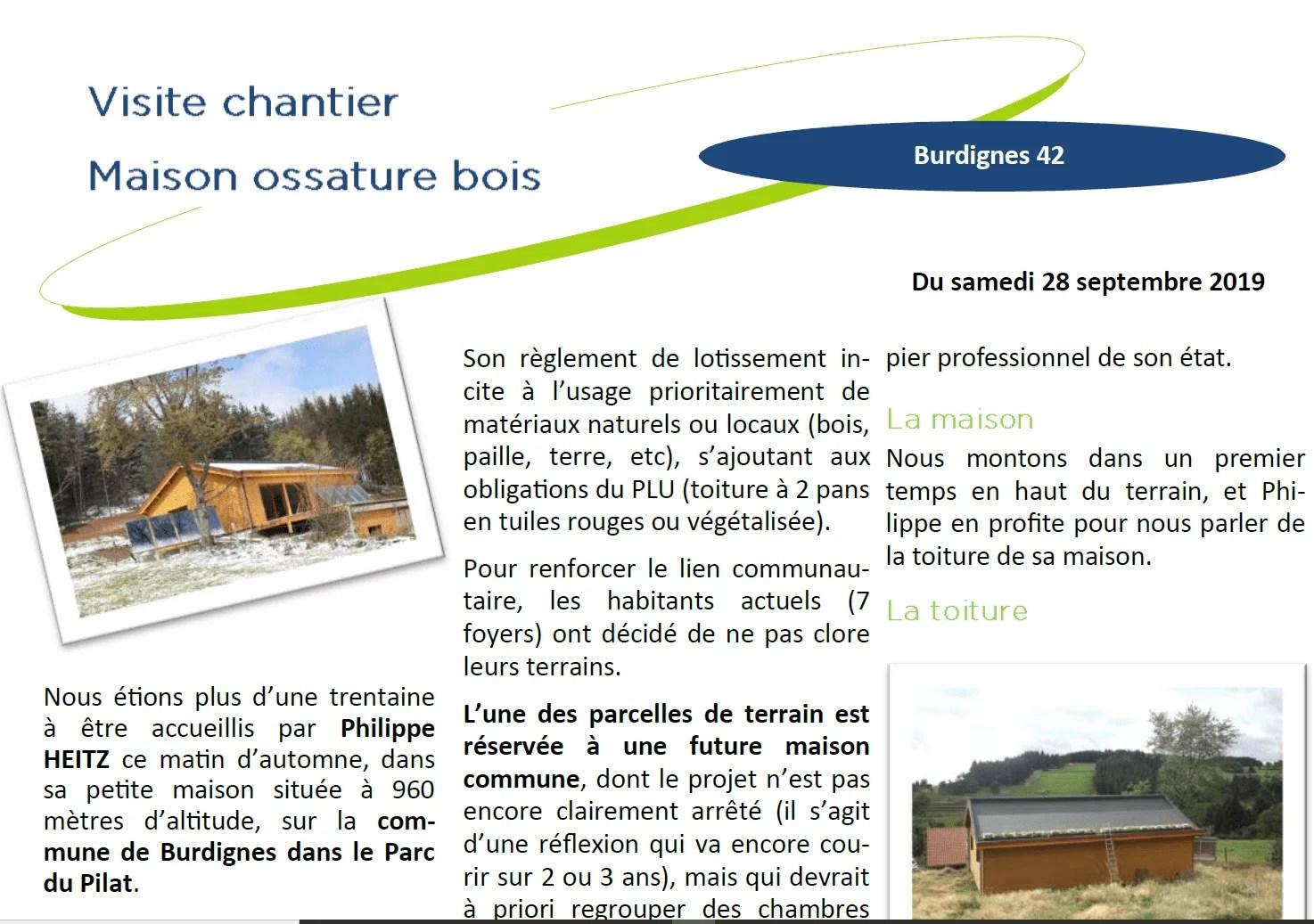 Visite chantier Ecohameau