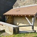 autre vue de la toiture du lavoir de Villiers par les Charpentiers montbardois à Montbard