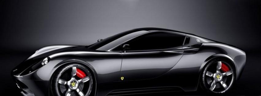 Ferrari noire- Photo de couverture journal Facebook