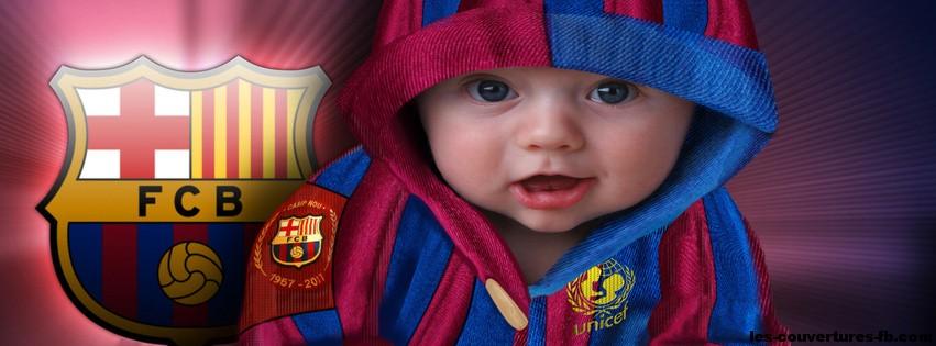 Enfant fan du Barça-photo de couverture journal Facebook