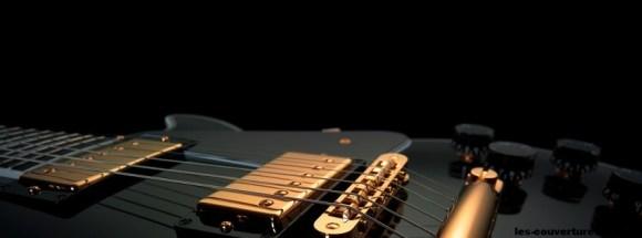 Guitare-Photo de couverture journal Facebook