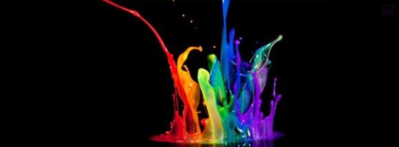 Splash coloré-Photo de Couverture journal Facebook
