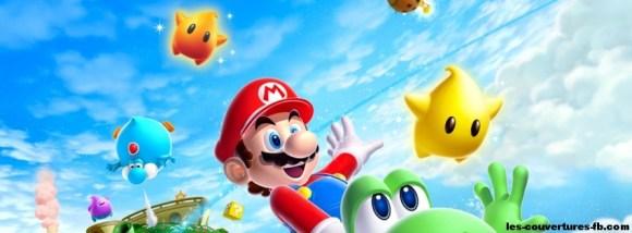 Super Mario Bros GALAXY- Photo de couverture journal Facebook