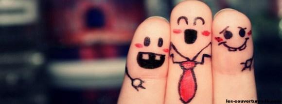 amitié des doigts - Photo de couverture journal Facebook