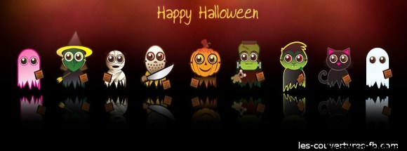 bande d'halloween - Photo de couverture journal Facebook