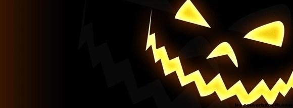 halloween tete de citrouille sur fond sombre photo-de-couverture-journal-facebook