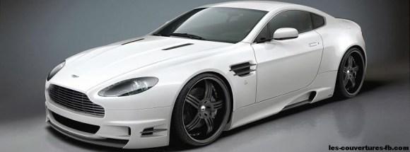 Aston Martin blanche- Photo de couverture journal Facebook