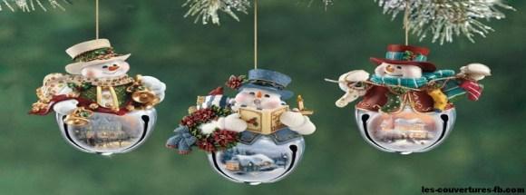 Bonhome de neige pour Noël - Photo de couverture journal Facebook