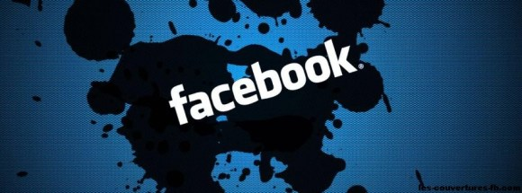 Facebook sur tache - photo de couverture journal Facebook